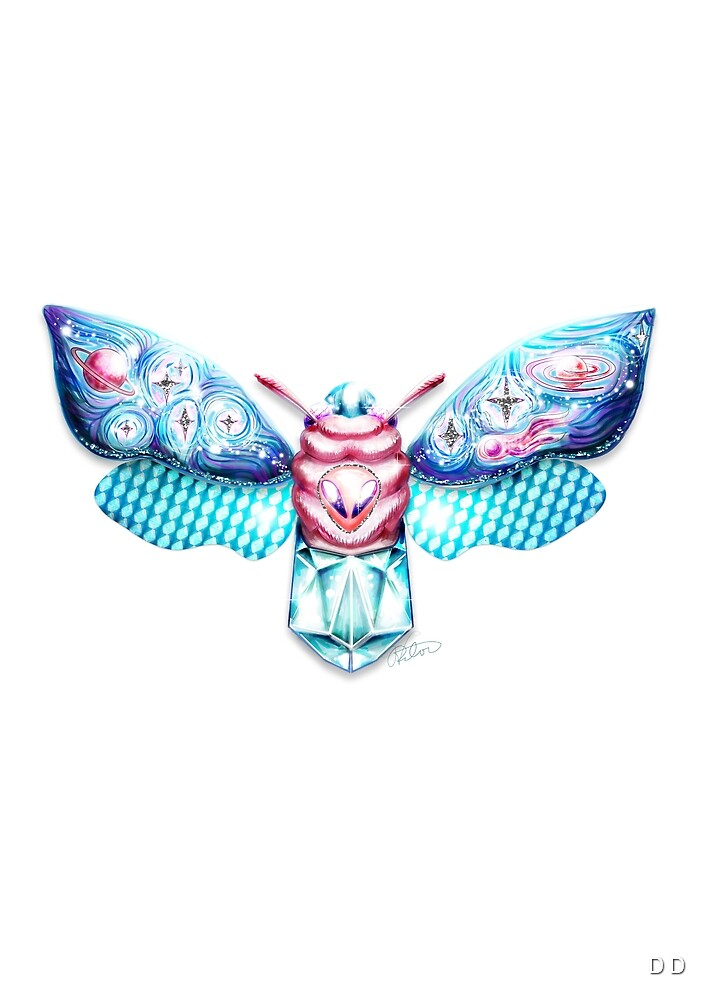 Alienhead Moth by TDator