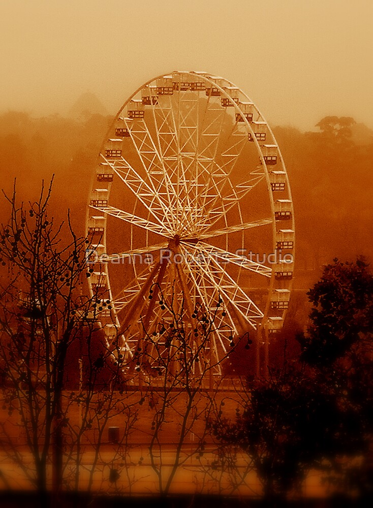 Ferris Fog - Melbourne, Victoria by Deanna Roberts Think in Pictures