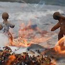 Clay People- Flames by Vicky Stonebridge