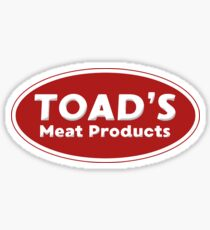 Toad's Meat Products Sticker