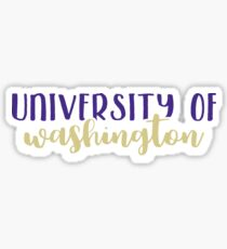 University of Washington Sticker