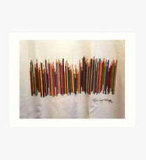 COLORED PENCILS Art Print