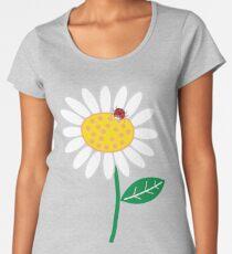 Whimsical Summer White Daisy and Red Ladybug Women's Premium T-Shirt
