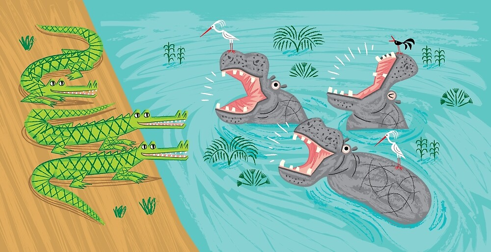 Crocodiles and Hippos by Oliver Lake