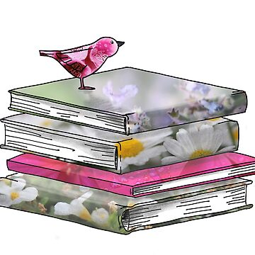 Books + Bird by KxtPicture