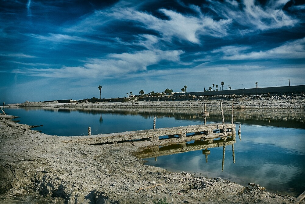 Dock on a Salton Sea Canal by JeniferKeffer