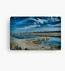 Dock on a Salton Sea Canal Canvas Print