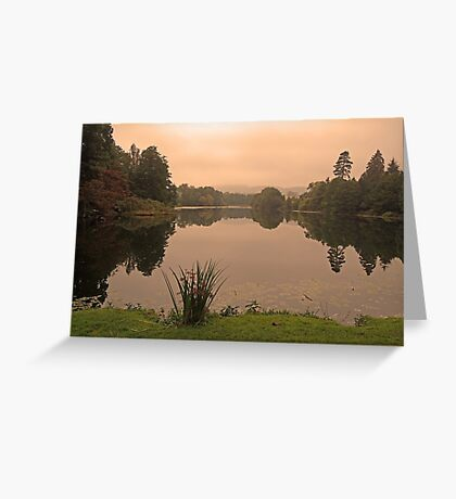 Peach Sky at Great Witley Greeting Card