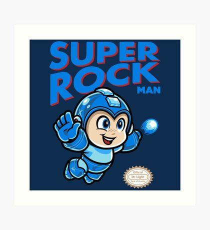Super Rock Man Art Print