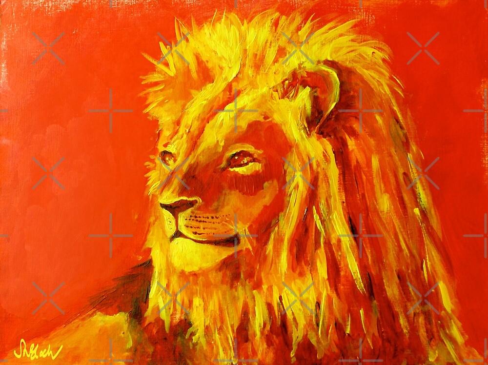 Krafttierbild Löwe - Totem Animal Lion von smoonflowerart