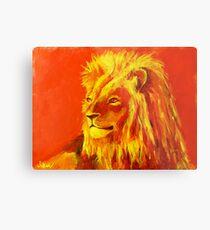 Krafttierbild Löwe - Totem Animal Lion Metalldruck