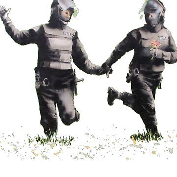 Banksy: Field of Flowers by Blueasaurs