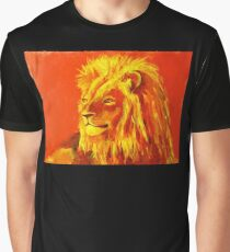 Krafttierbild Löwe - Totem Animal Lion Grafik T-Shirt