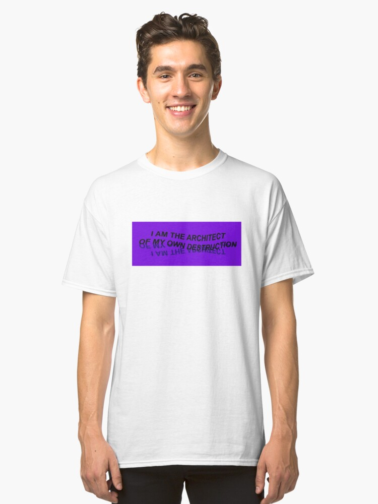 Cool Aesthetic Design Classic T-Shirt Front