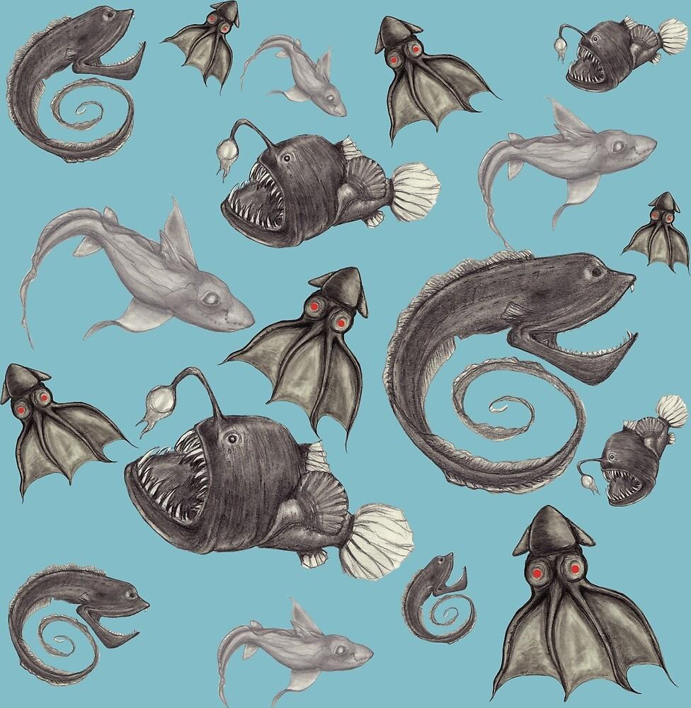 Deep Sea Creatures Pattern Swatch by PixlPixi