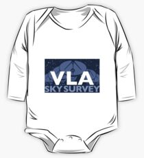 The New Very Large Array Sky Survey Logo for Light Colors One Piece - Long Sleeve
