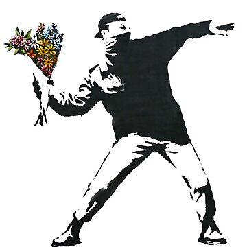 Banksy: Flower Grenade by Blueasaurs