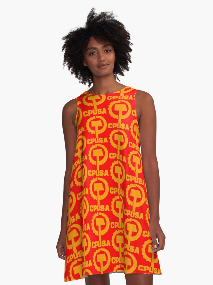 CPUSA (The Communist Party USA) A-Line Dress Front