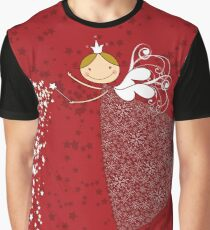 Whimsical Magical Snowflakes Fairy Graphic T-Shirt