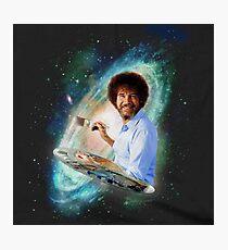 Bob Ross Galaxy Sticker Photographic Print