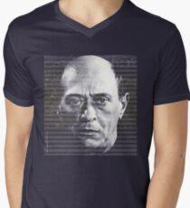 Arnold Schoenberg, great composer Men's V-Neck T-Shirt