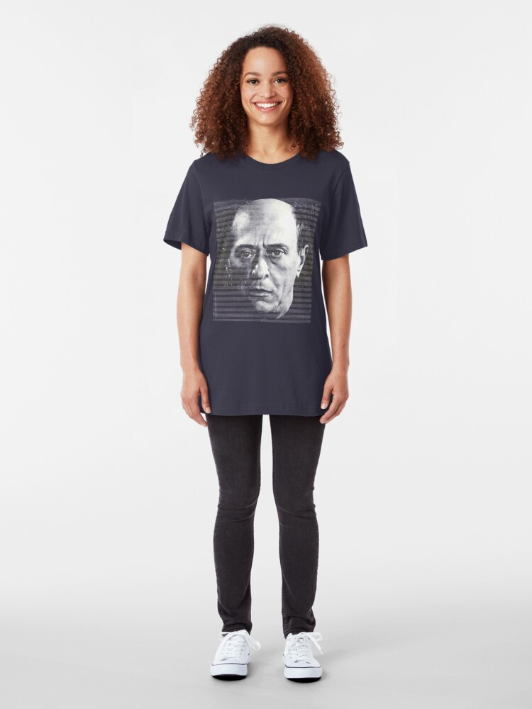 Alternate view of Arnold Schoenberg, great composer Slim Fit T-Shirt
