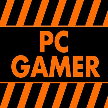 Warning Pc Gamer (orange) by xtrolix