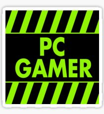 Warning Pc Gamer (green) Sticker