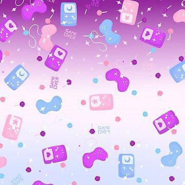 Pastel Gamer Nerd - Kawaii Game Over Design by ateliershoshi