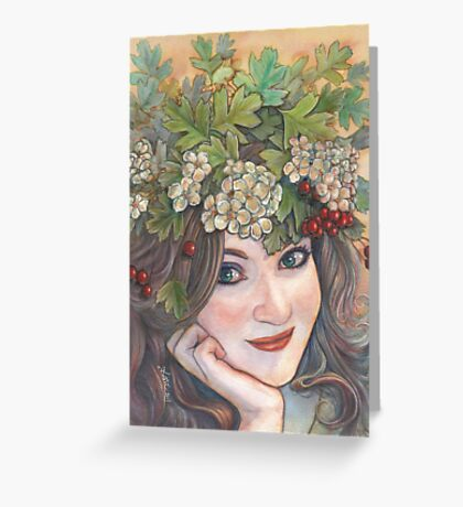 The Hawthorn Queen. Greeting Card