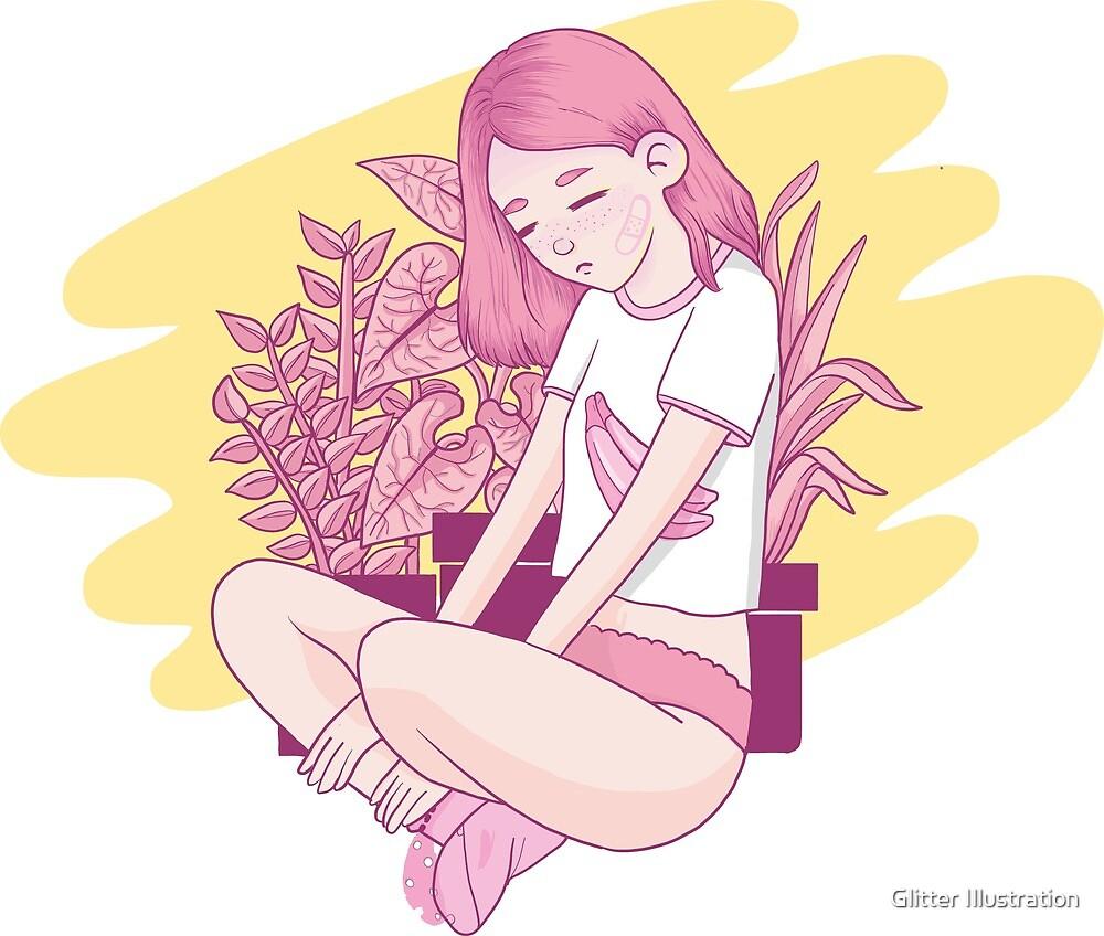 Niña Sad by Glitter Illustration