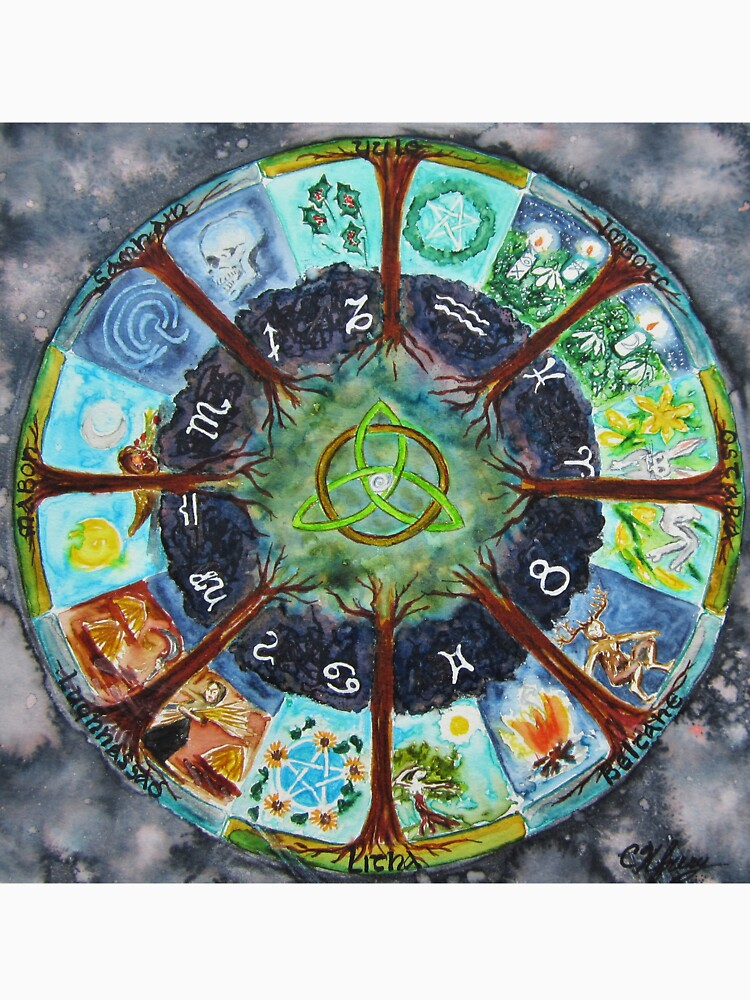 Wheel of the Year by chriskfouryart