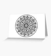 Black Mandala Greeting Card
