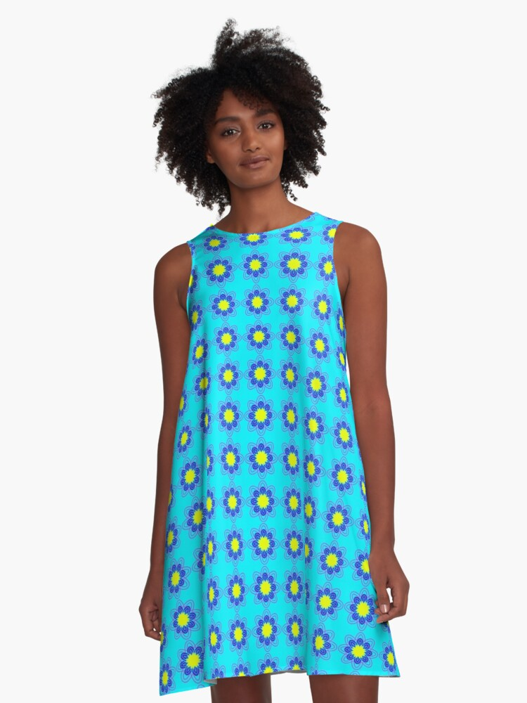 Graphic flower A-Line Dress Front