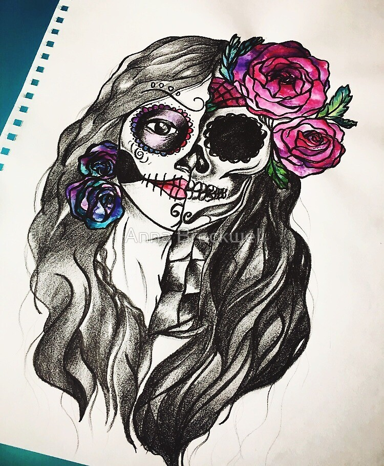 Mexican Day of The Dead by Anna Brockwell