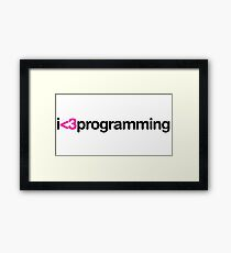 I heart programming Framed Print