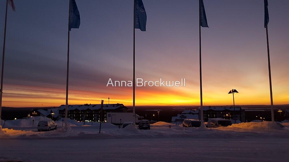 Lapland Sunrise by Anna Brockwell