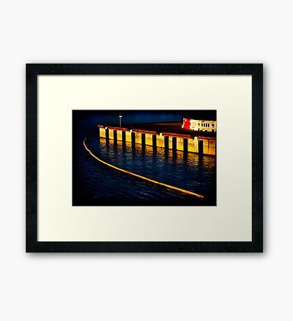 Dockland 1 Ortonized Framed Print