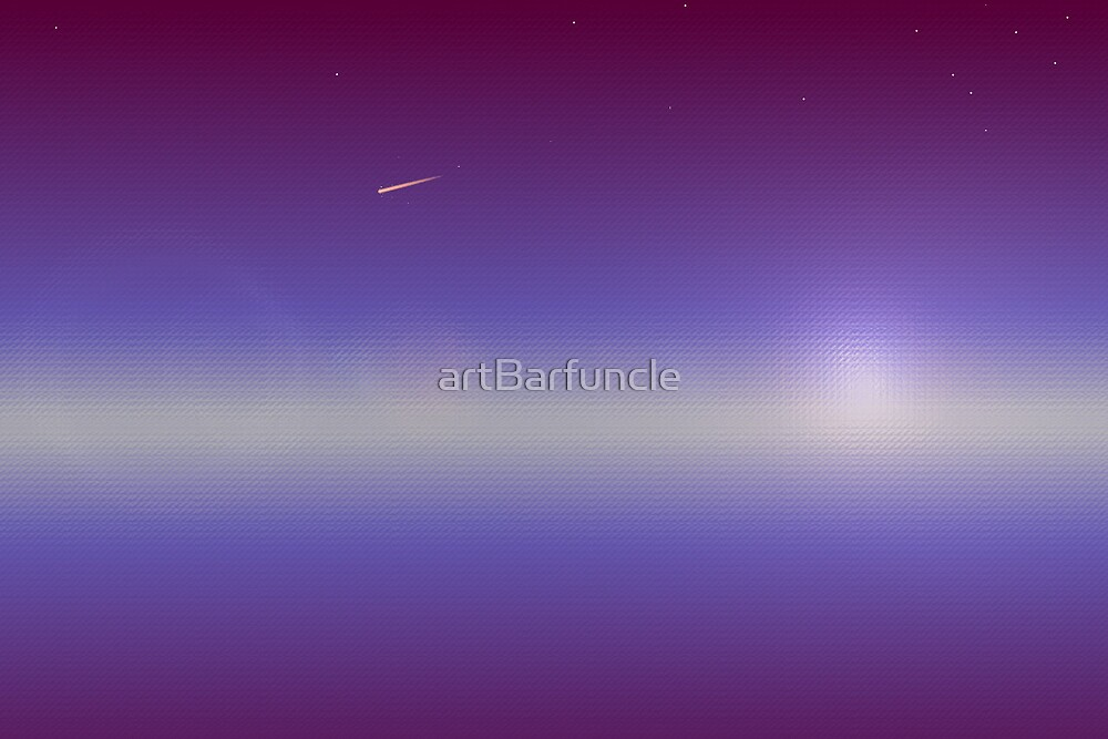 meteor sunset by artBarfuncle