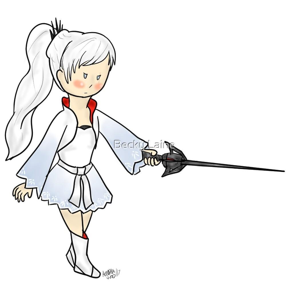 Little Weiss & Myrtenaster by Becky Laine