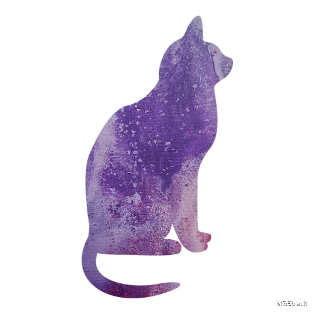 Pink and Purple Cat by MGStrack