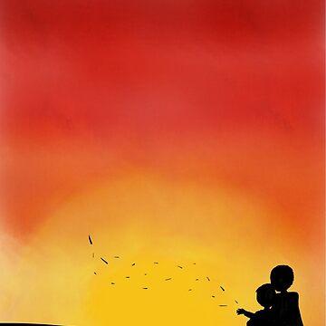 Silhouette Sunset - Parent & Child by Knai-Locus