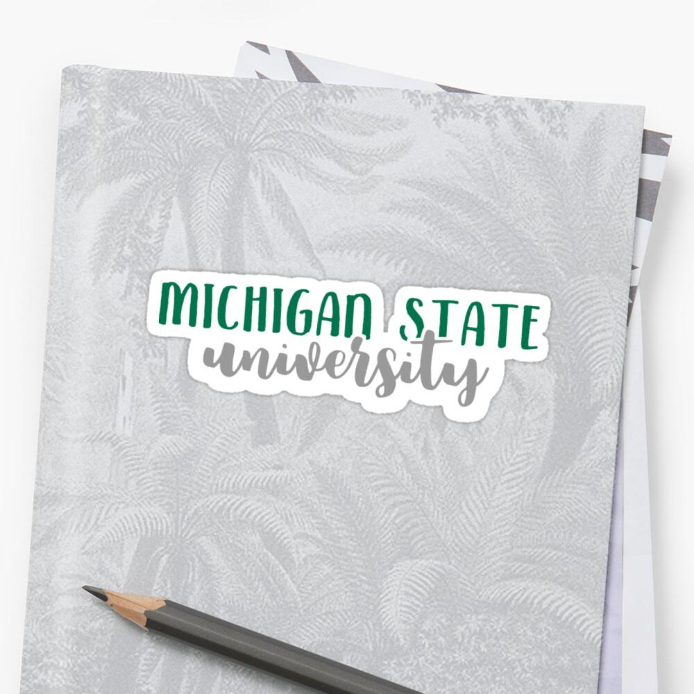 Michigan State University by Pop 25