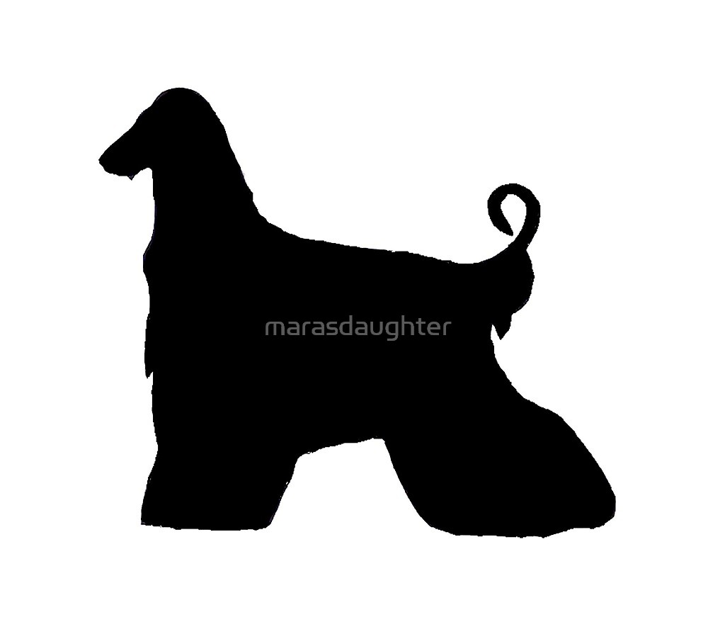 afghan hound silhouette by marasdaughter