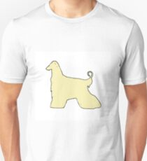 afghan hound color silhouette Unisex T-Shirt