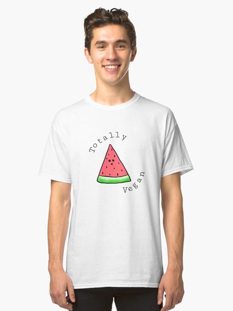 Totally Vegan Watermelon  Classic T-Shirt Front