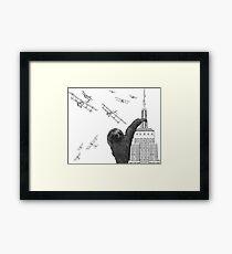 Sloth Kong Framed Print
