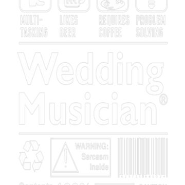 Wedding Musician Multitasking Beer Coffee Problem  T-Shirt  by fvu96093