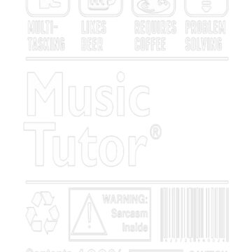 Music Tutor Multitasking Beer Coffee Problem T-Shirt  by fvu96093