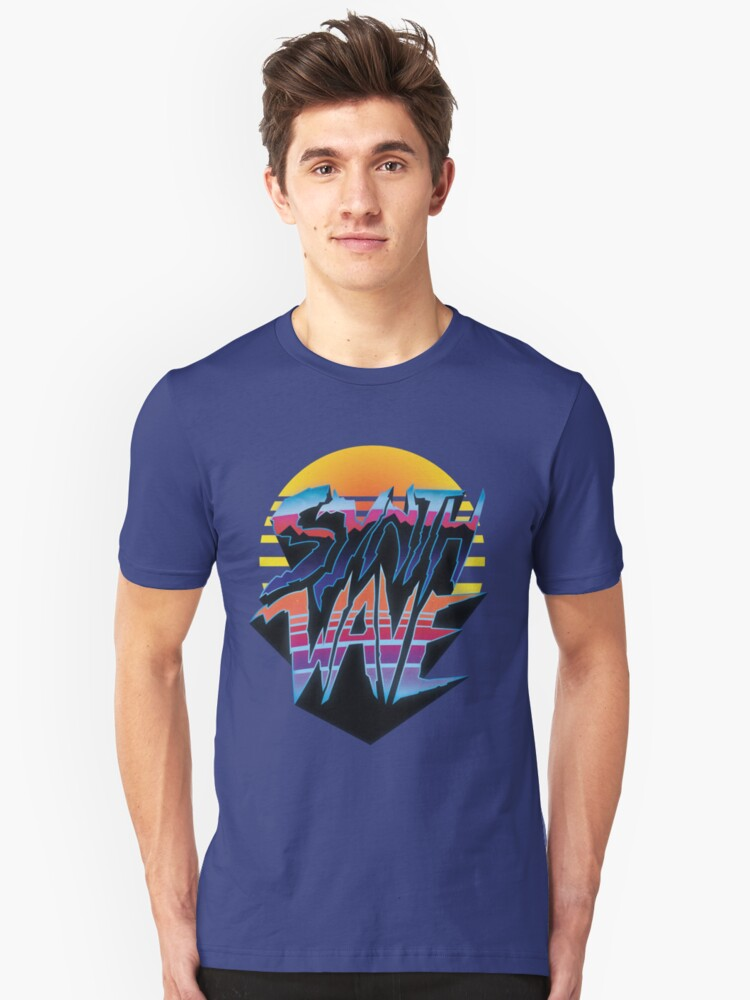 "Outrun ""Synthwave"" T-Shirt, Hoodie Unisex T-Shirt Front"